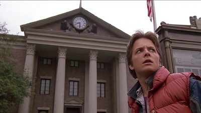 back to the future clock picture